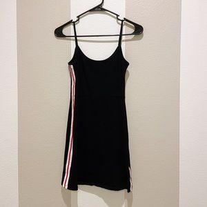 BRANDY MELVILLE BLACK RACER STRIPE DRESS